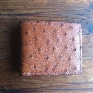 Mens genuine kangaroo and ostrich hide wallet